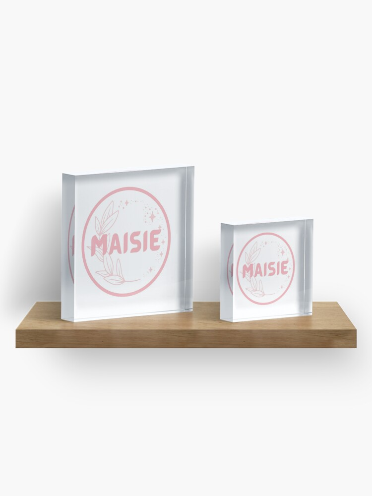 Alternate view of Maisie Acrylic Block