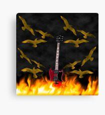 Fire Guitar Canvas Print