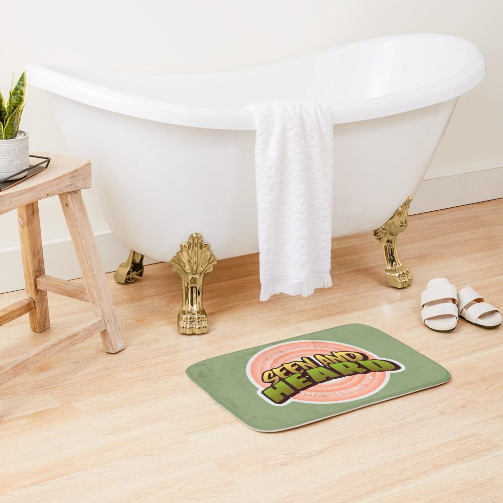 Seen and Heard Vintage, Retro Housekeeping Humor Bath Mat