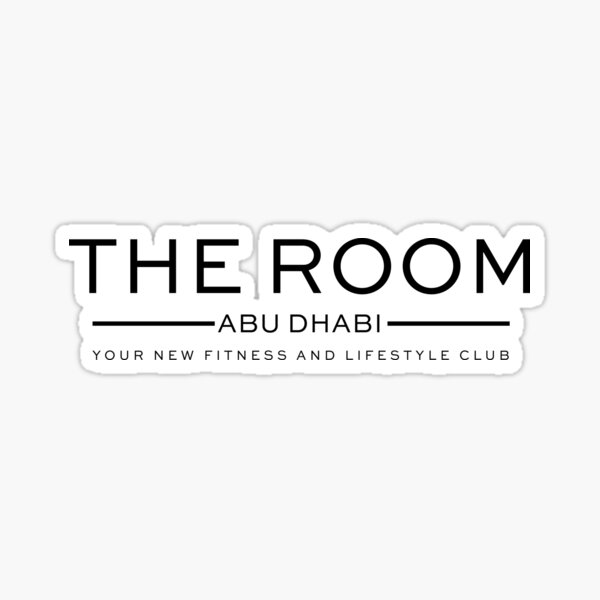 THE ROOM ABU DHABI FITNESS & LIFESTYLE CLUB | BLACK LOGO Sticker
