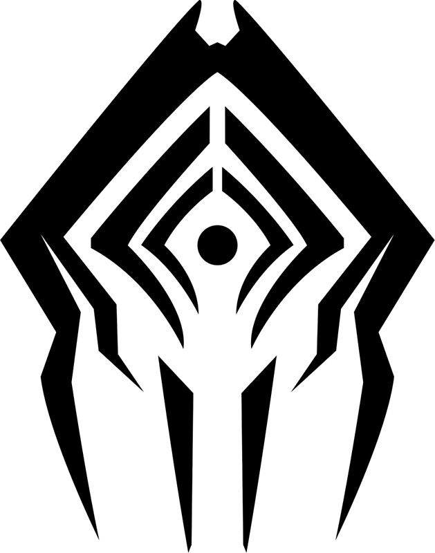 Quot Warframe Stalker Logo Quot Greeting Cards By Lemonlad Redbubble