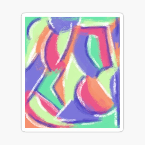 Abstract Summer Berries and Lime Sticker