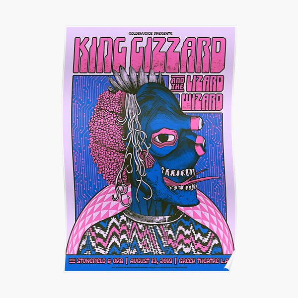 King Gizzard and the Lizard Wizard Greek Theatre 2017 V2 Poster