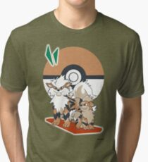 Pokemon Growlithe & Arcanine Tri-blend T-Shirt
