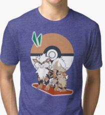 Pokemon Growlithe & Arcanine Tri-blend T-Shirt