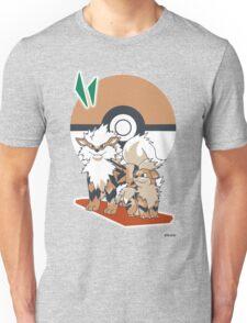 Pokemon Growlithe & Arcanine Unisex T-Shirt