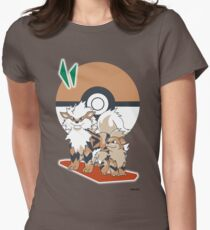 Pokemon Growlithe & Arcanine Women's Fitted T-Shirt