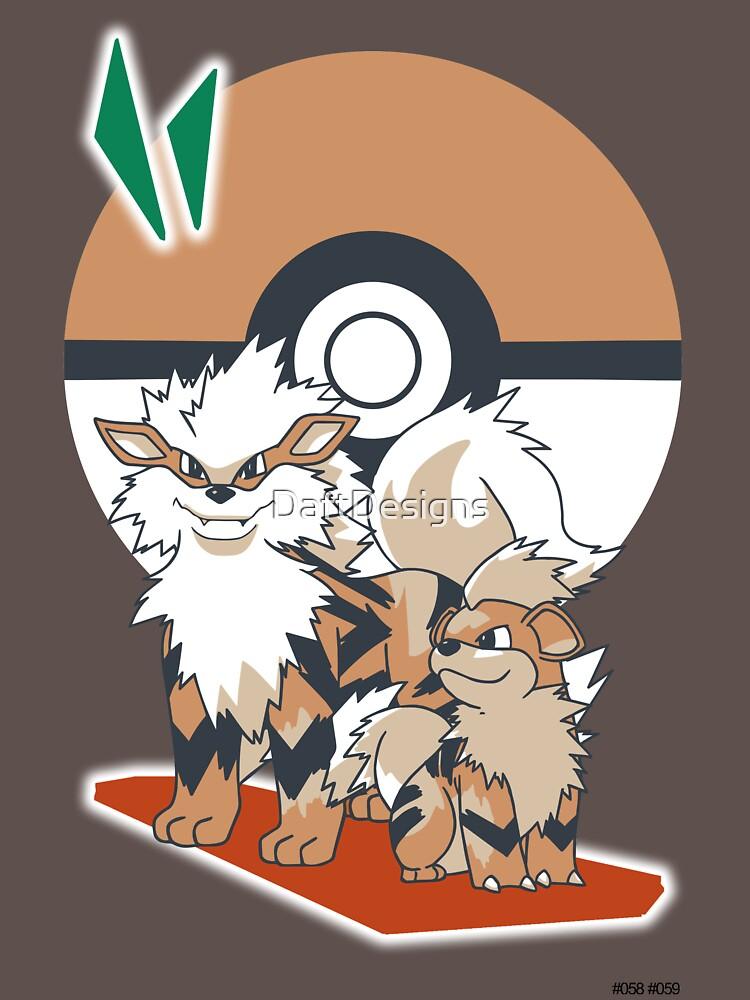 Pokemon Growlithe & Arcanine | Unisex T-Shirt