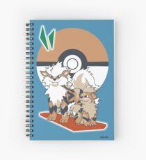 Pokemon Growlithe & Arcanine Spiral Notebook