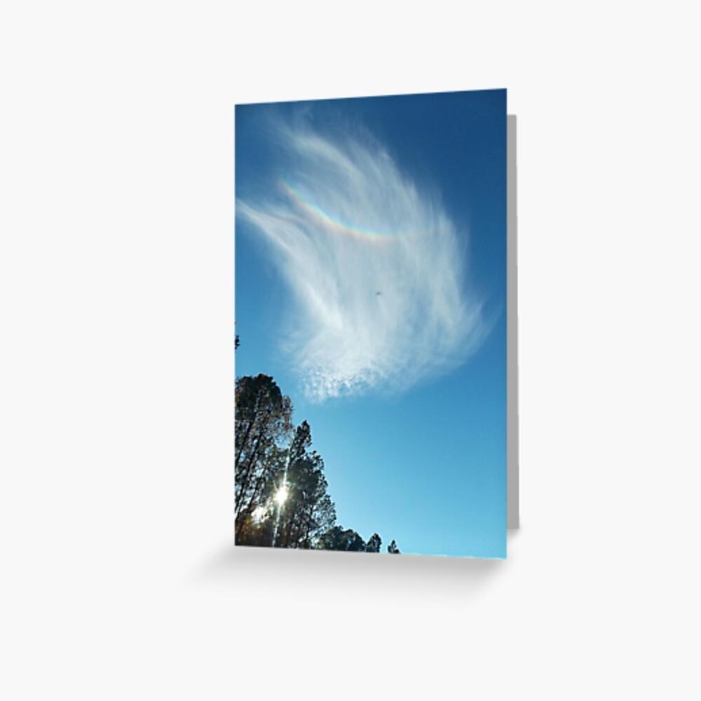 Rainbow Angel Cloud Windows From Heaven Greeting Card