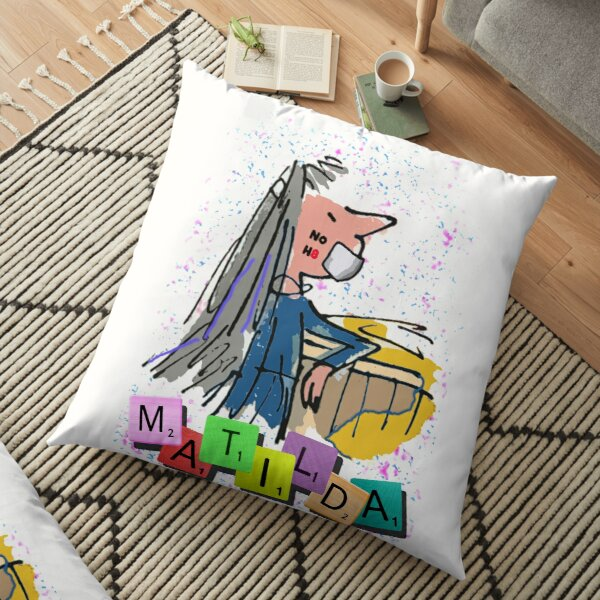 No Hate - Matilda the Musical Floor Pillow