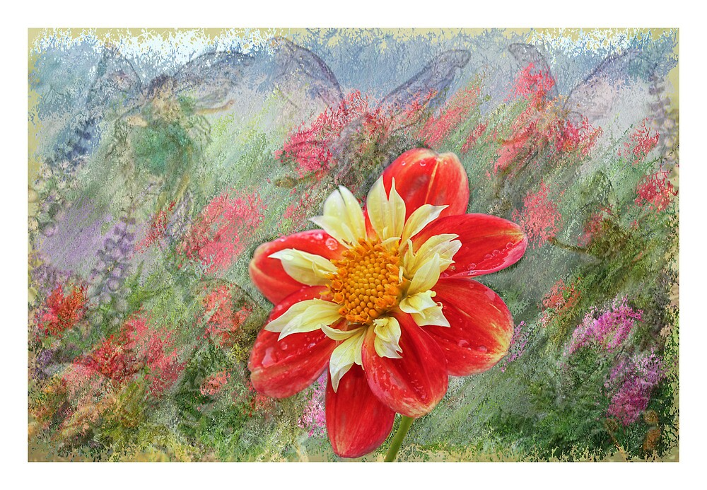 Flower within a flower. by Elaine Game