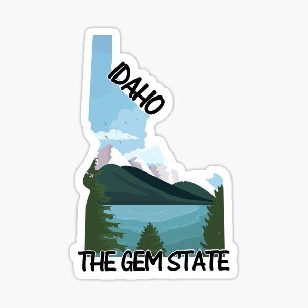 Idaho - The Gem State - Bumper Sticker Sticker
