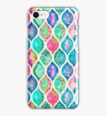 Watercolor Ogee Patchwork Pattern iPhone Case/Skin