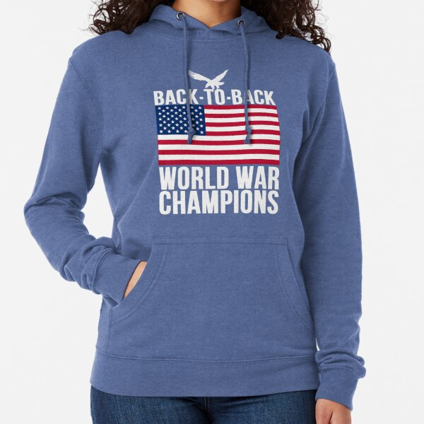 Back to Back World War Champs-1 Mens Adult Full Zip Pullover Hoodie Athletic Sweaters