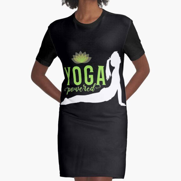 'Yoga Powered' Graphic T-Shirt Dress by tw2us