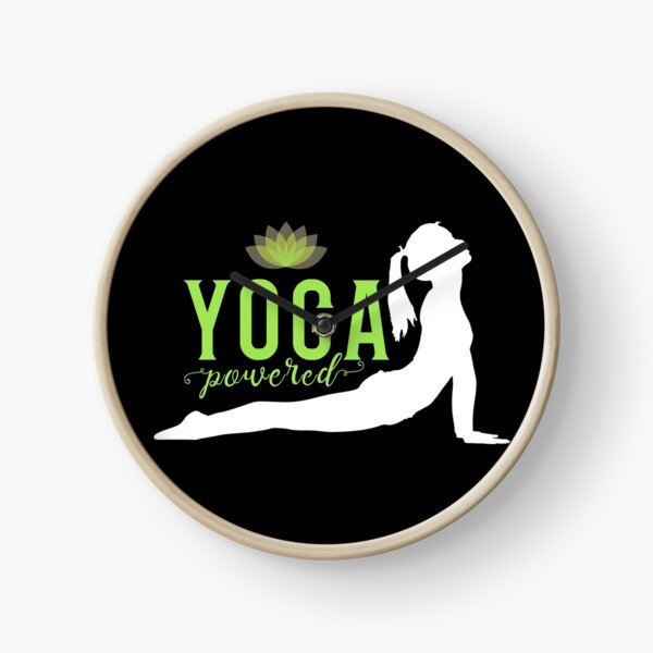 'Yoga Powered' Clock by tw2us