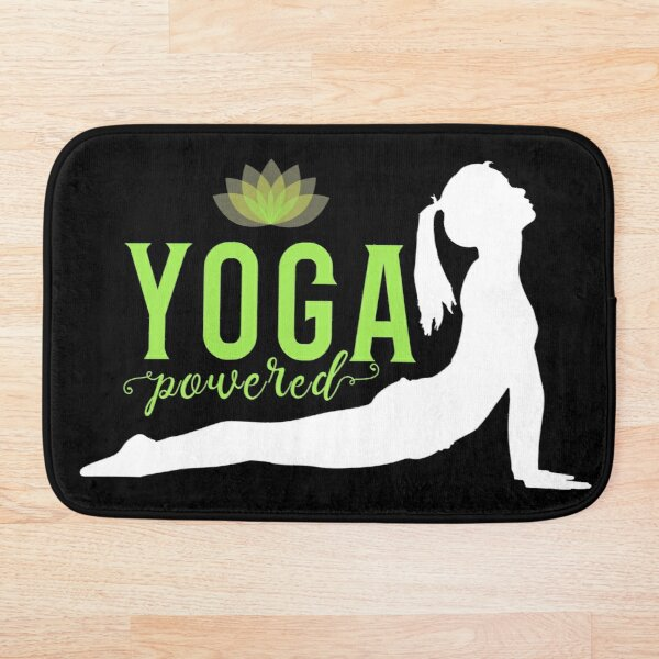 'Yoga Powered' Bath Mat by tw2us