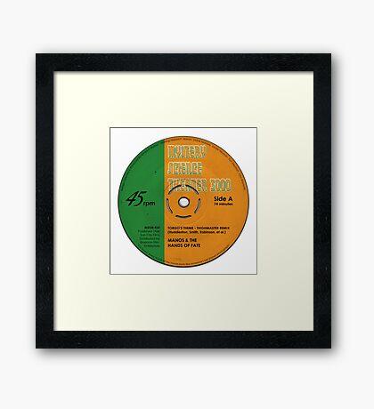 "MST3K -  ""Manos"" record label Framed Print"
