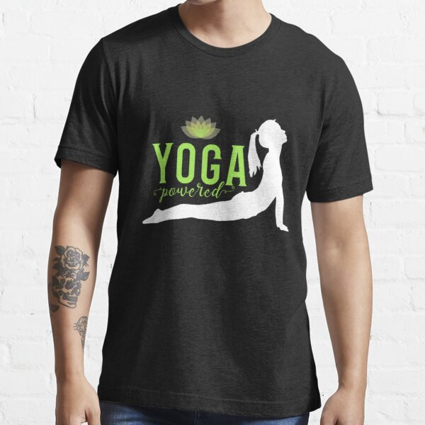 'Yoga Powered' Essential T-Shirt by tw2us