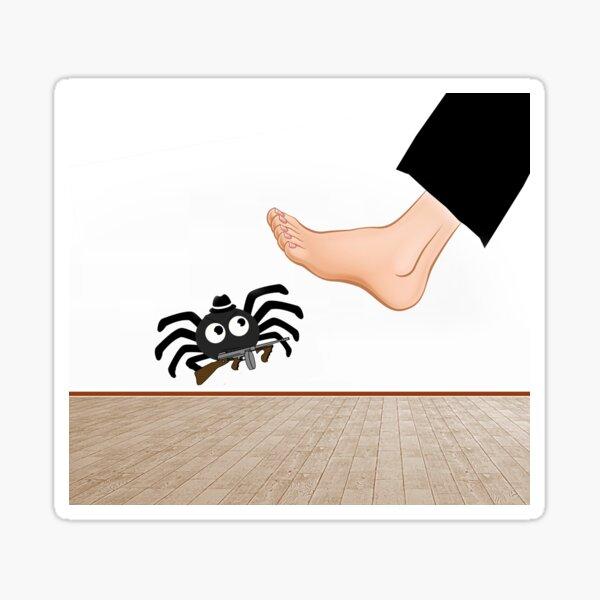 Spider Footophobia Sticker