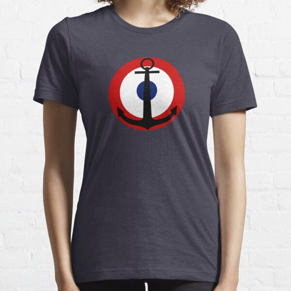 French Navy roundel / Cocarde de la Marine française Essential T-Shirt