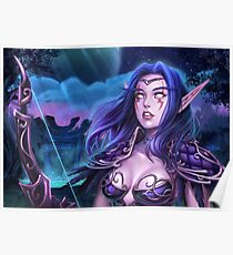 Hunter night elf   Poster