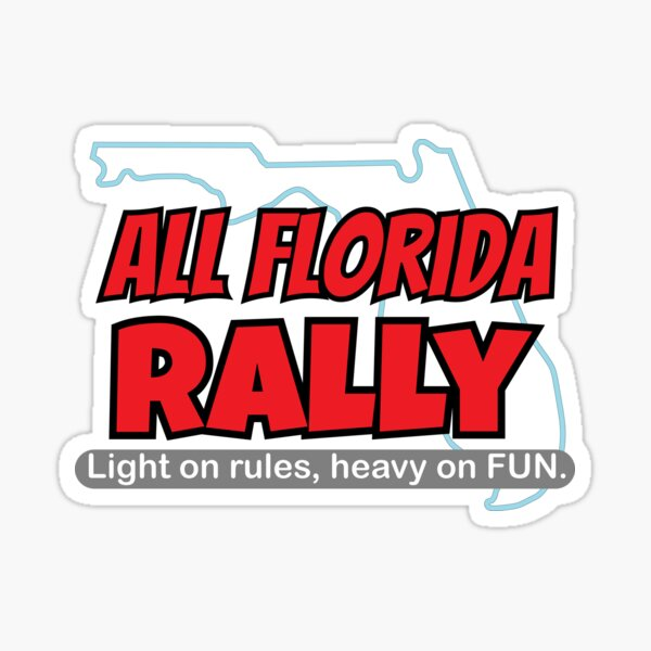 All Florida Rally Official Merch Sticker