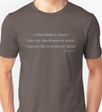 Albert Einstein Music Quote Unisex T-Shirt