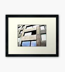 Facade Window Framed Print