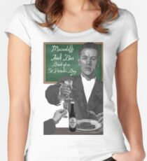 Macauliffe Irish Bar St Patrick's Day Women's Fitted Scoop T-Shirt