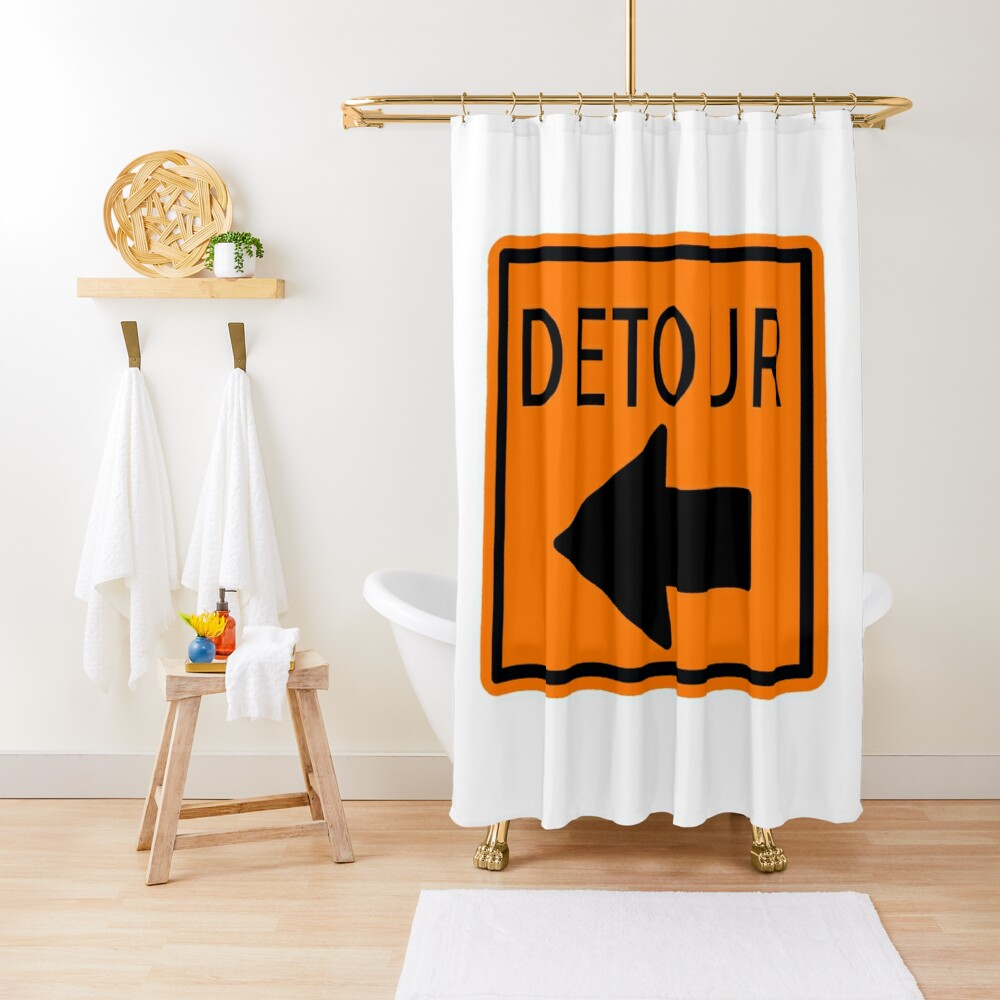 DETOUR Shower Curtain