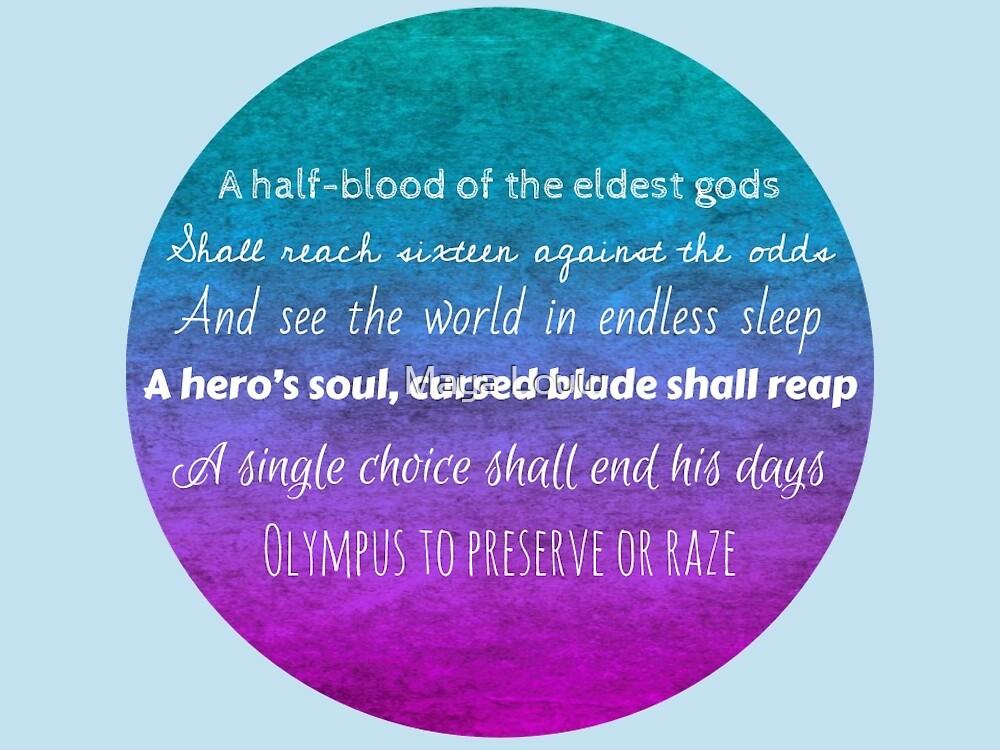 Percy Jackson Prophecy - Blue Background by MewMewMaya