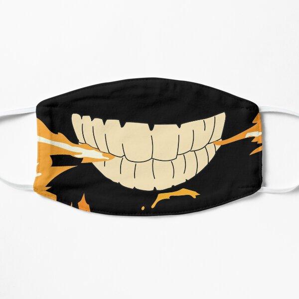 Sonrisa de demonio de la fuerza de fuego Mascarilla plana