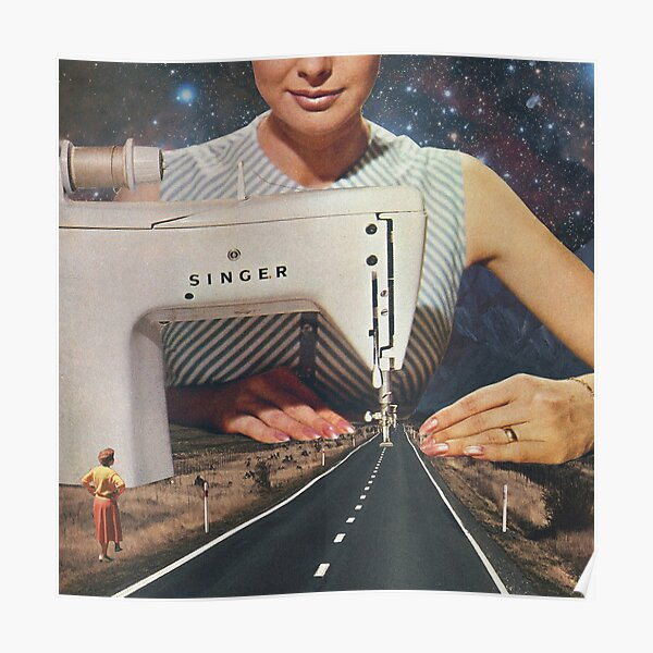 This is how a road gets made - Sewing Machine Poster