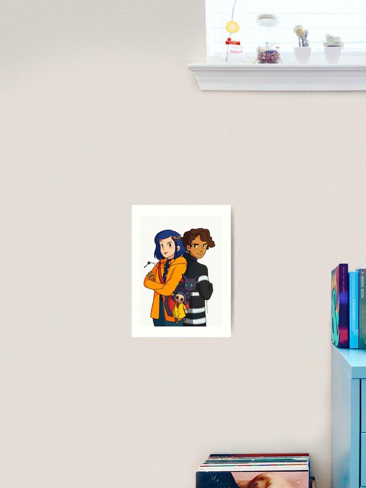 Coraline And Wyborne Fanart Art Print By Miyokonii Redbubble