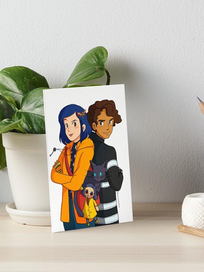 Coraline And Wyborne Fanart Art Board Print By Miyokonii Redbubble