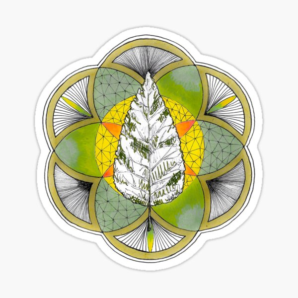 Shinrin-yoku Art: Transparent Leaf Sticker