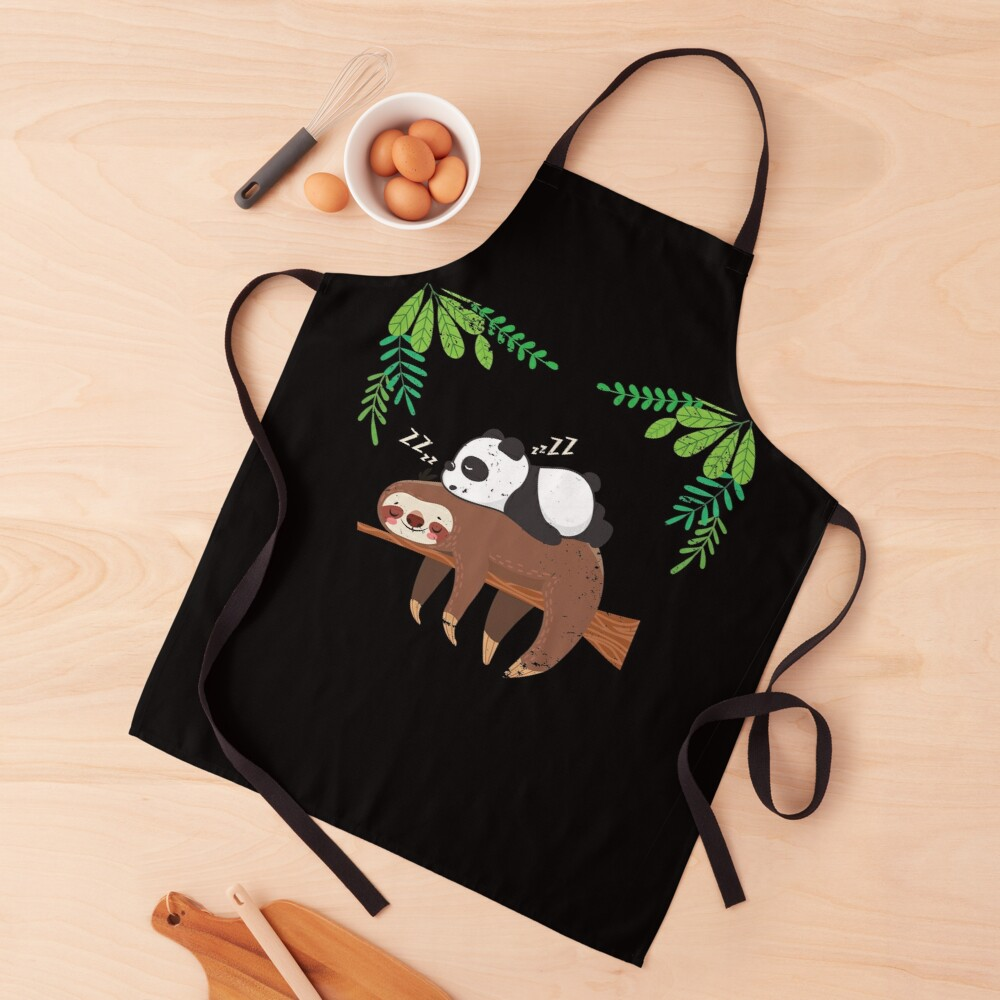 Sleeping Panda Sloth Apron