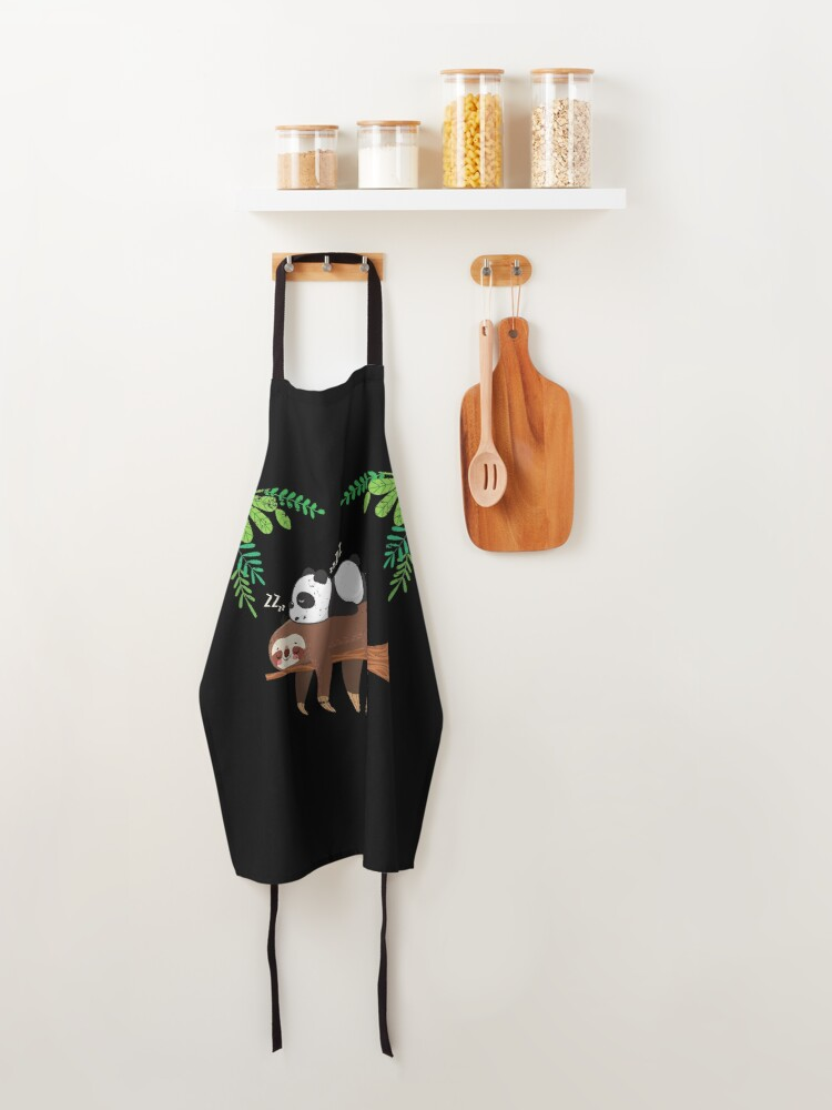 Alternate view of Sleeping Panda Sloth Apron