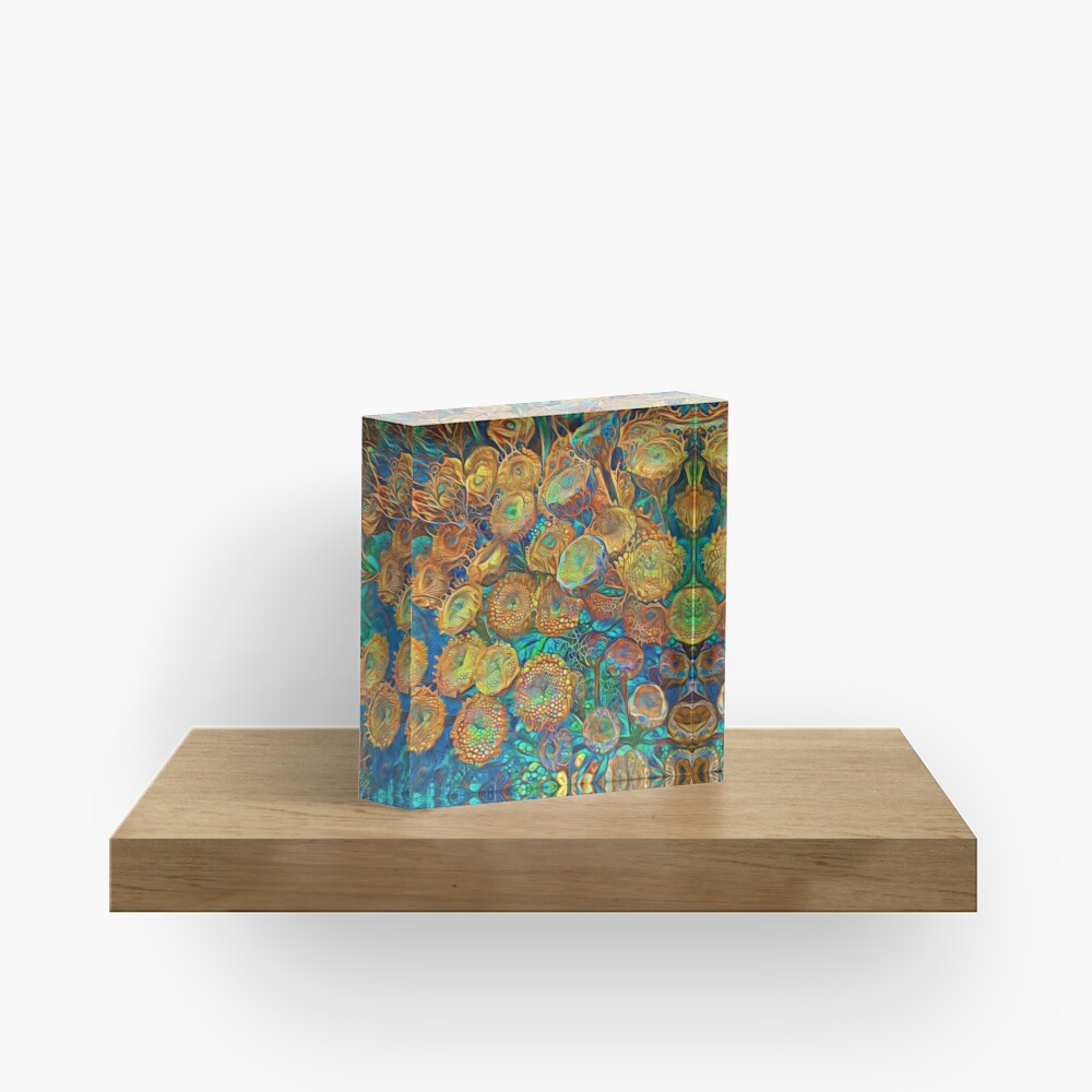 Floral abstract Acrylic Block
