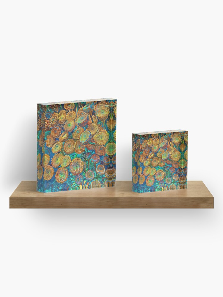 Alternate view of Floral abstract Acrylic Block