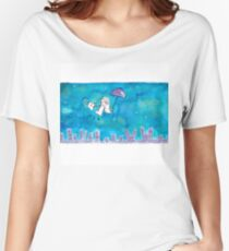 Cat Over City Women's Relaxed Fit T-Shirt