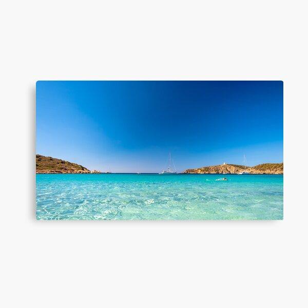 Playa de Turredda, Cerdeña, en un día de verano Lienzo