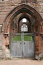 Sweetheart Abbey Door by Allen Lucas