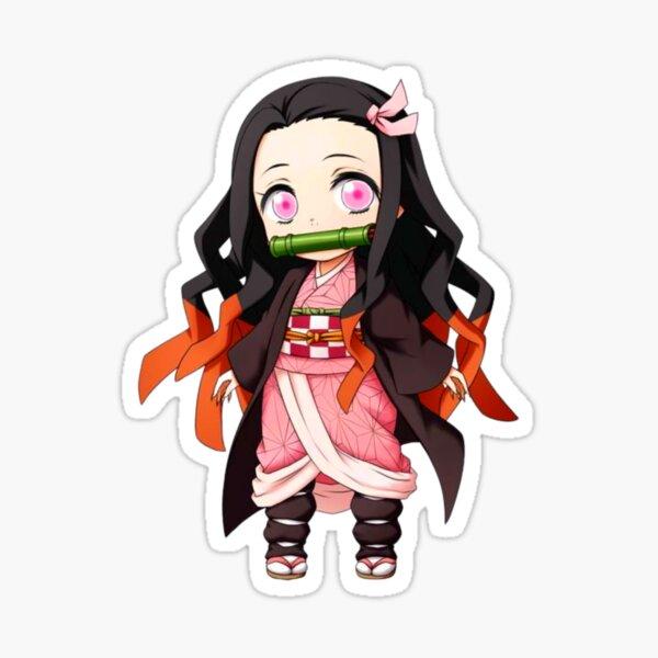 Chibi Nezuko Demon Slayer Sticker