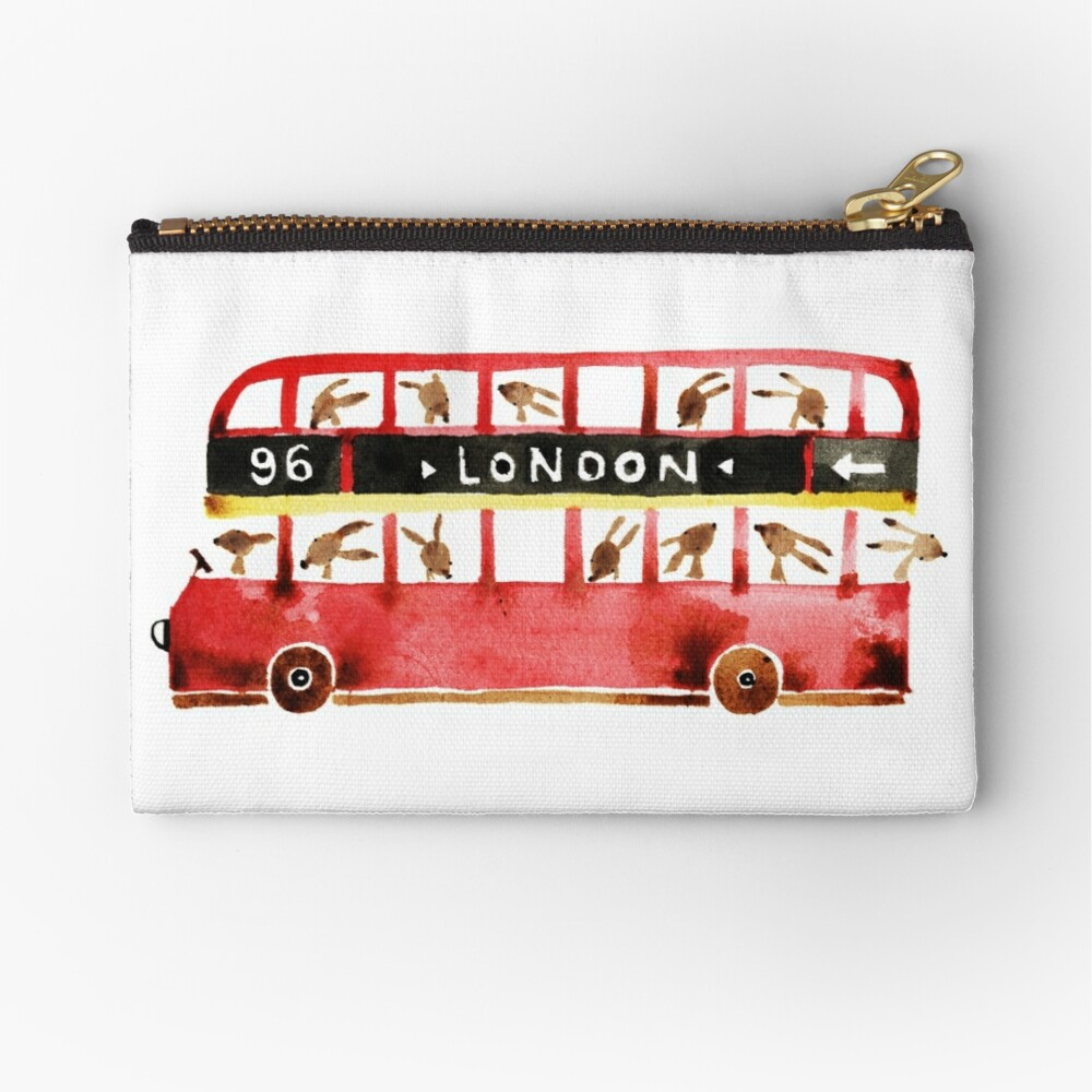 Bunny in London Zipper Pouch