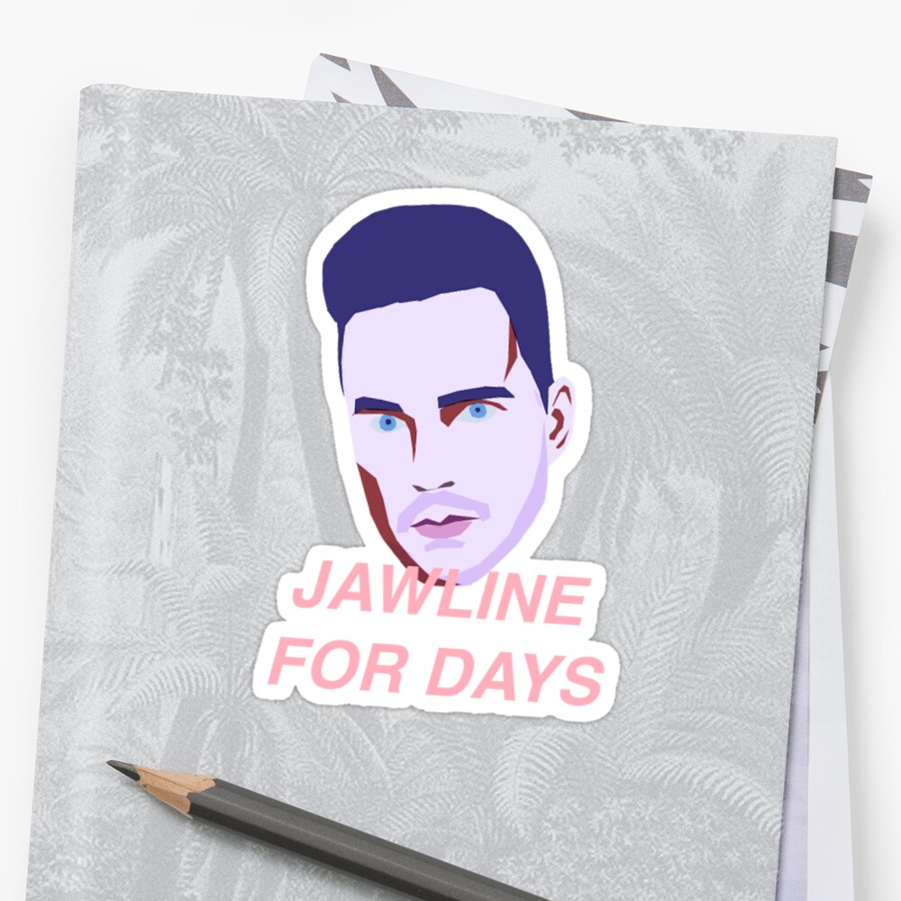 Quot Jawline For Days Quot Stickers By Ustarmie Redbubble