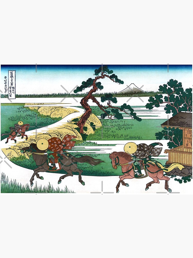 Sekiya Village On The Sumida River By Katsushika Hokusai Art Board Print By Takeda Art Redbubble