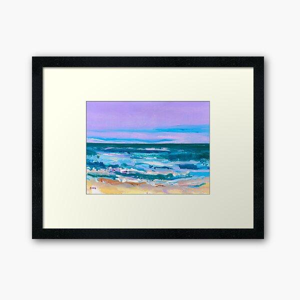 Wave. Beach Painting Series No.12 Framed Art Print